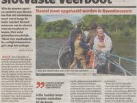 Verhitte discussie over slotvaste veerboot